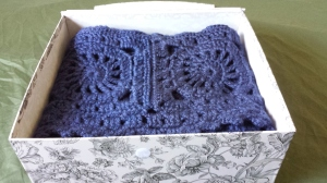 Wagon Wheel Afghan in Decorative Box